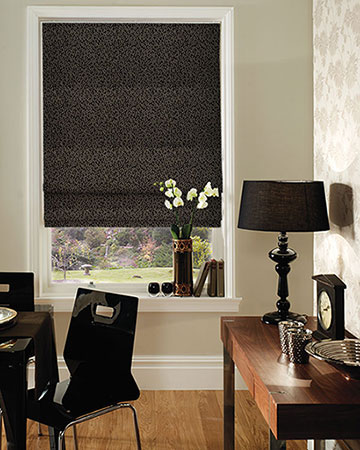 Clarke & Clarke Cesare Walnut Roman Blinds