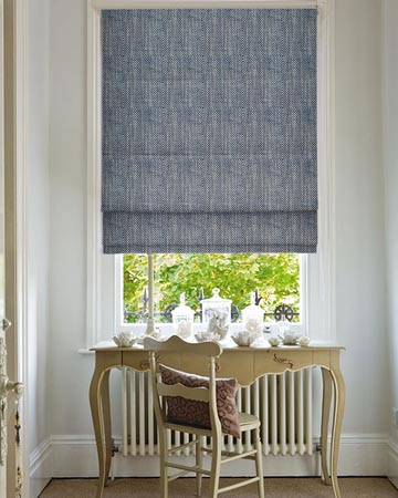 Clarke & Clarke Chiasso Denim Roman Blinds