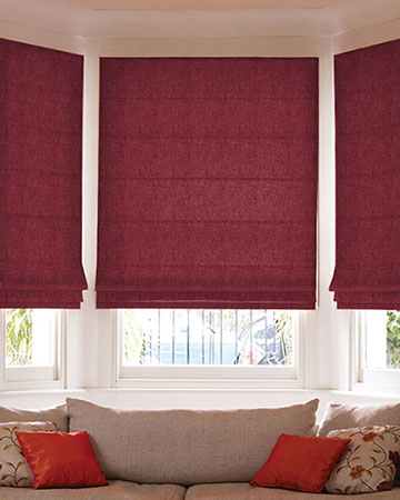 Clarke & Clarke Enzo Berry Roman Blinds