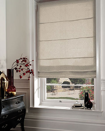 Clarke & Clarke Fiji Antique Roman Blinds