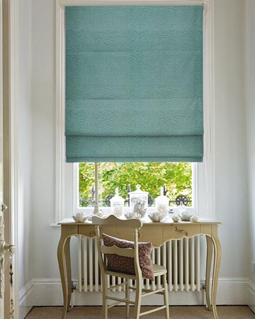 Clarke & Clarke Fiji Kingfisher Roman Blinds
