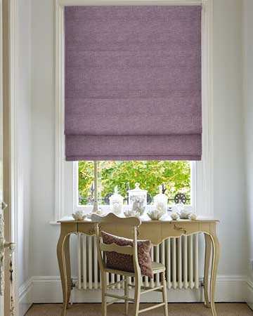 Clarke & Clarke Impulse Heather Roman Blinds