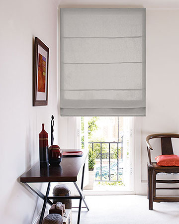 Clarke & Clarke Impulse Ivory Roman Blinds