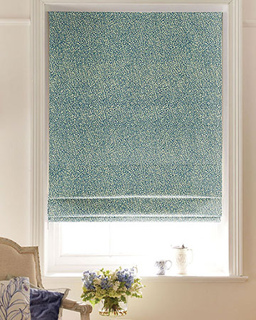 Clarke & Clarke Isla Teal/Gold Roman Blinds