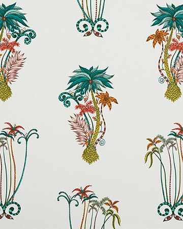 Clarke & Clarke Jungle Palms Jungle Roman Blinds