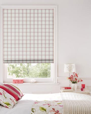 Clarke & Clarke Kelmscott Heather Roman Blinds