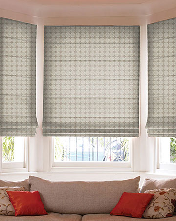 Clarke & Clarke Kiko Natural Roman Blinds