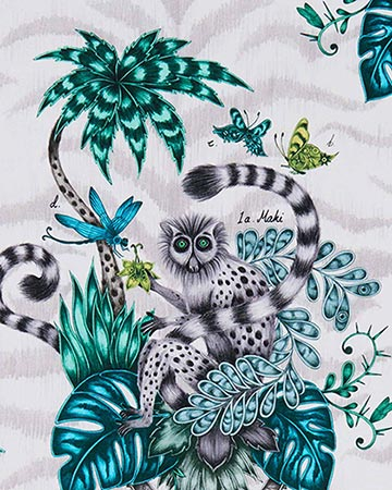 Clarke & Clarke Lemur Jungle Roman Blinds