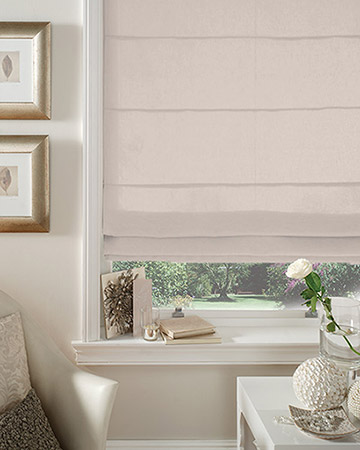 Clarke & Clarke Linoso Feather Roman Blinds
