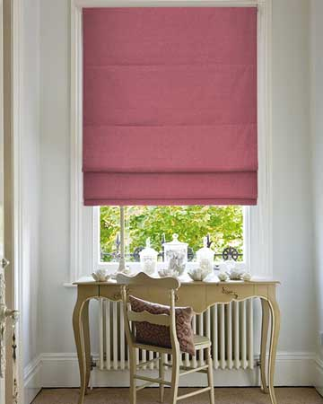 Clarke & Clarke Lugano Rose Roman Blinds