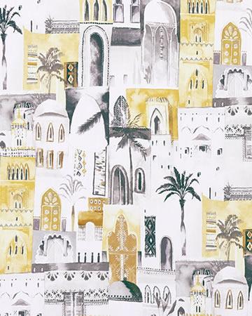 Clarke & Clarke Marrakech Charcoal Roman Blinds