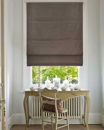 Clarke & Clarke Martinique Pewter Roman Blinds