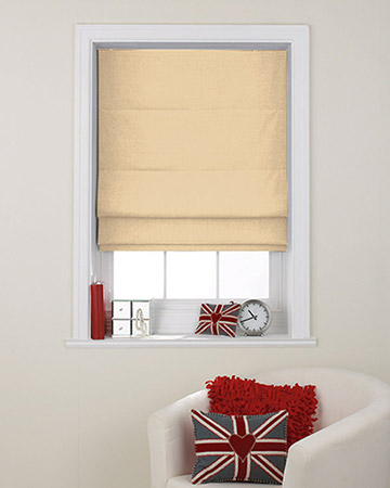 Clarke & Clarke Nantucket Butter Roman Blinds
