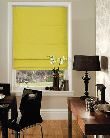 Clarke & Clarke Nantucket Celery Roman Blinds