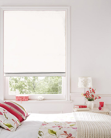 Clarke & Clarke Nantucket Chalk Roman Blinds