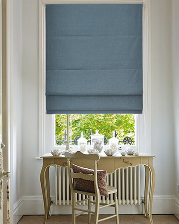 Clarke & Clarke Nantucket Chambray Roman Blinds