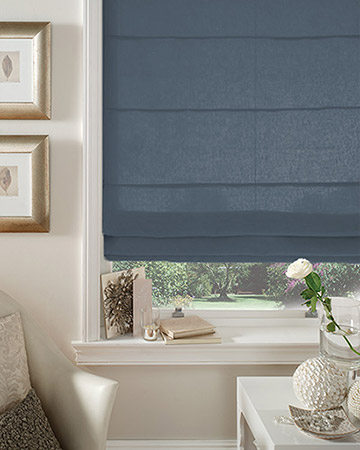 Clarke & Clarke Nantucket Delft Roman Blinds