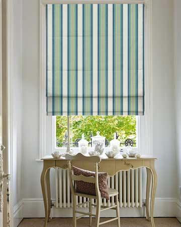 Clarke & Clarke Pampelonne Apple/Citron Roman Blinds