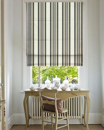 Clarke & Clarke Pampelonne Charcoal Roman Blinds