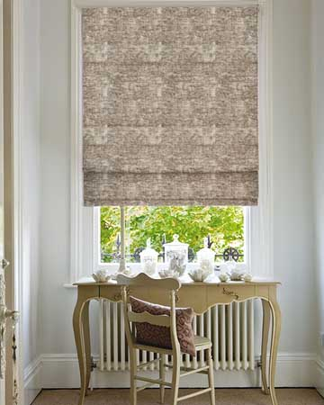Clarke & Clarke Plush Pebble Roman Blinds