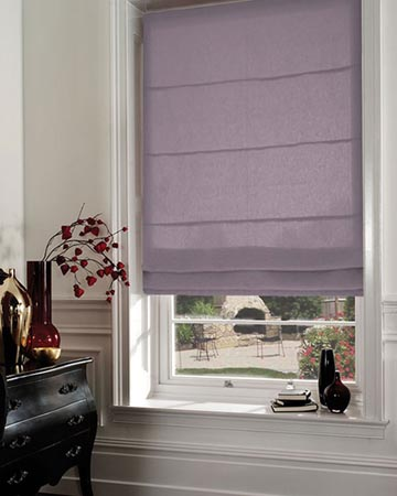 Clarke & Clarke Quantum Heather Roman Blinds