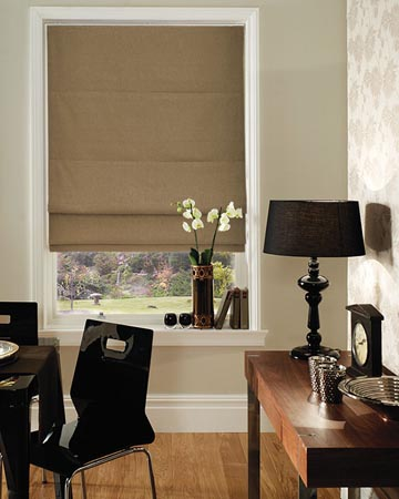 Clarke & Clarke Regal Antique Roman Blinds