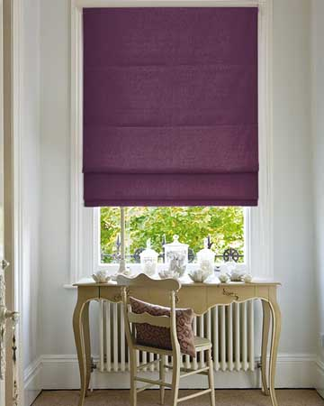 Clarke & Clarke Regal Berry Roman Blinds