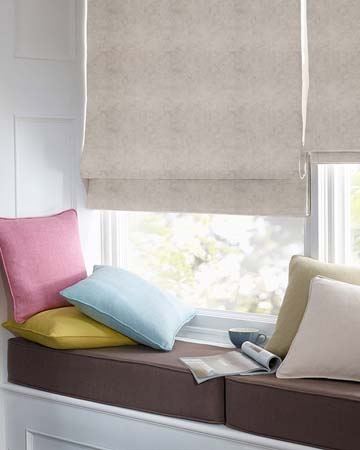 Clarke & Clarke Regal Birch Roman Blinds