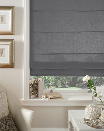 Clarke & Clarke Regal Steel Roman Blinds