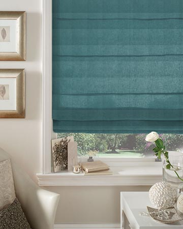 Clarke & Clarke Regal Teal Roman Blinds