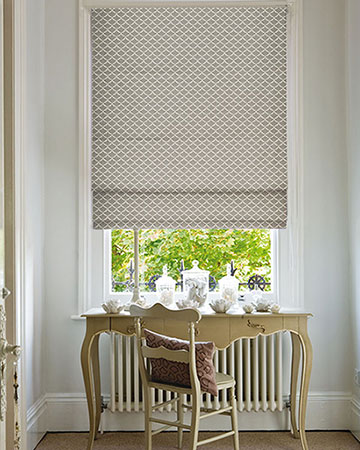 Clarke & Clarke Reggio Pebble Roman Blinds