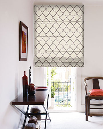 Clarke & Clarke Sawley Heather Roman Blinds