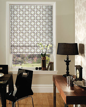 Clarke & Clarke Sekai Orchid/Willow Roman Blinds