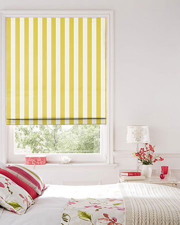 Clarke & Clarke St.James Stripe Acacia Roman Blinds