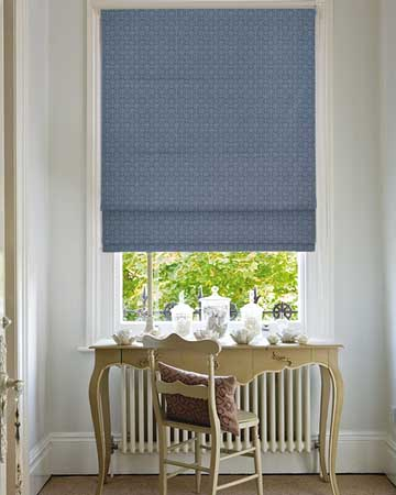 Clarke & Clarke Sufi Ink Roman Blinds