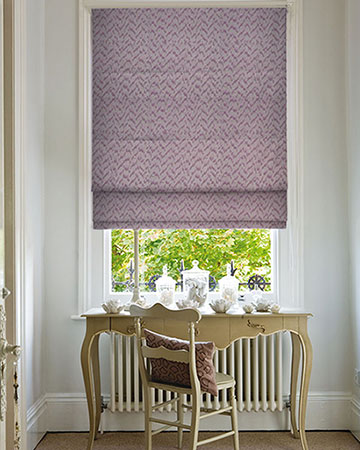 Clarke & Clarke Volta Heather Roman Blinds