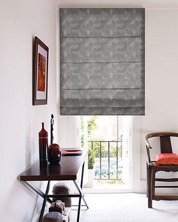 Costa Rica Tissus Reflet Anthracite Roman Blinds