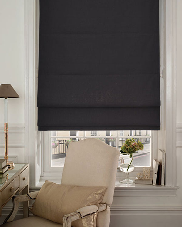 Edgar Black Roman Blinds