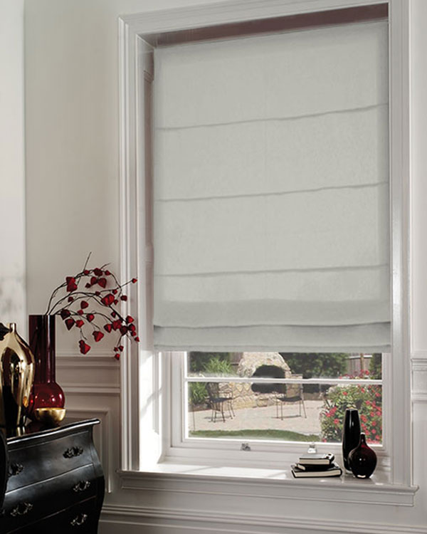 Faux Silk Beige Roman Blinds