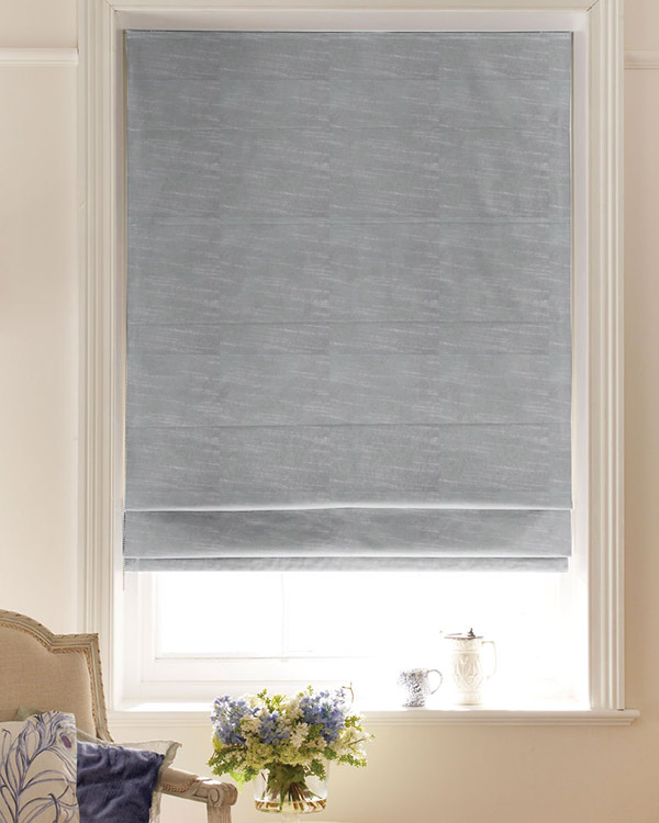 Faux Silk Grey Roman Blinds Uk