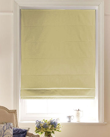 Luxe Beige Roman Blinds