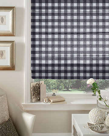 Menorca Navy Roman Blinds