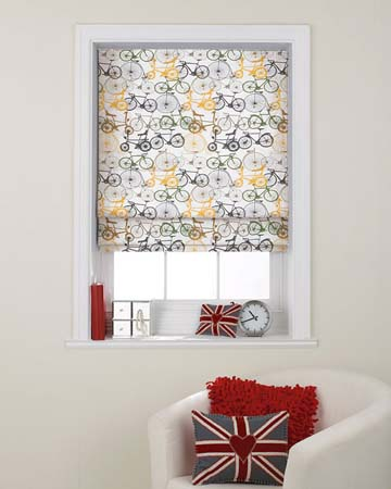 Metal Bikes Roman Blinds