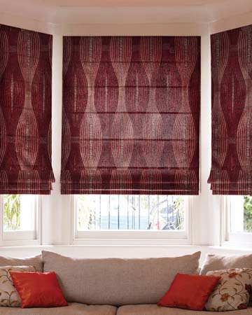 Morion Red Roman Blinds