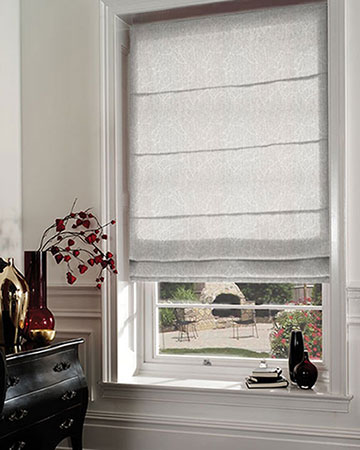 Ohio Tissus Arbre Taupe Roman Blinds
