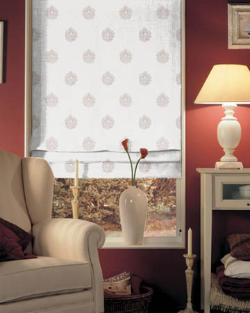 Orsay Ornement Brode Blanc Roman Blinds