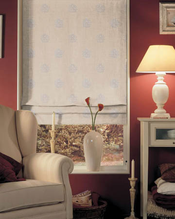 Orsay Ornement Brode Lin Roman Blinds
