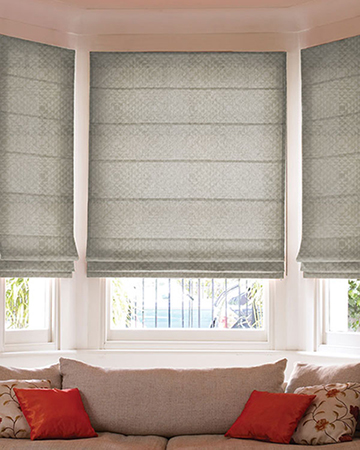 Paris Geometrique Gris Roman Blinds