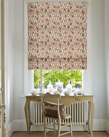 Prestigious Cedar Red Berry Roman Blinds