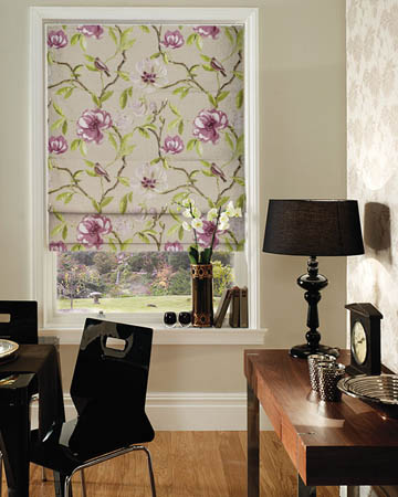 Prestigious Chinoise Mulberry Roman Blinds